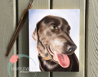 "8""x10"" Custom Oil Pet Portrait"