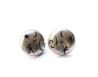 Vintage Silver Stud Earrings