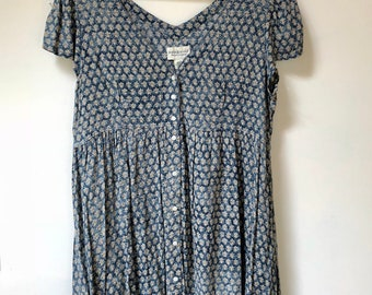 Vintage Button Front Babydoll Dress
