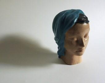 Rare Art Deco Pottery Head