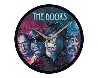 "Caricature of The Doors - Vinyl Wall Clock 7"""