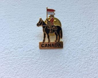 Canada Mountie Enamel Pin