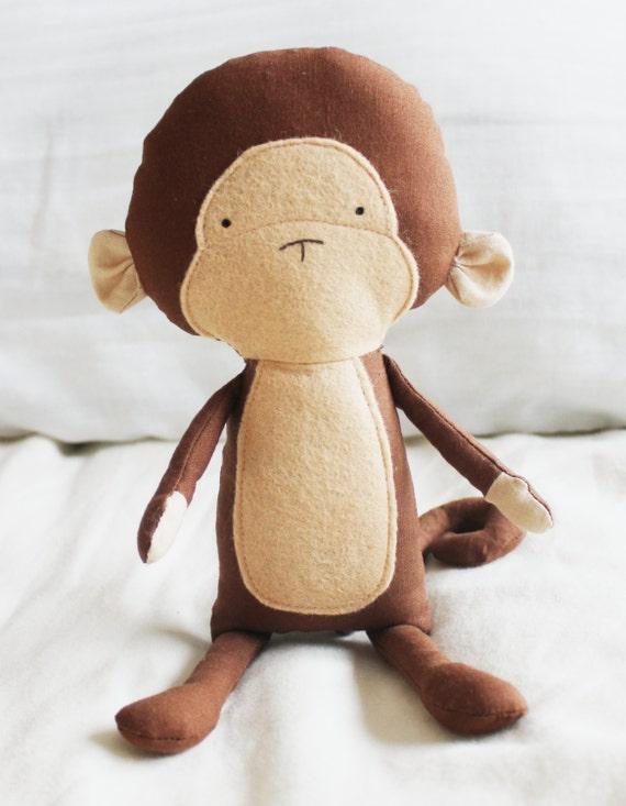 Monkey Sewing Pattern Chimp Softie Plush Toy Cloth Doll