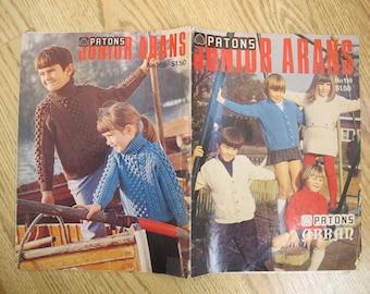 Patons Junior Arans No. 159 / Patons Arans / Children's knitting patterns