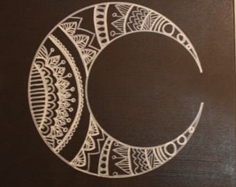 Crescent Moon Painting