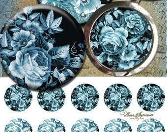 "Blue Rose - One 4x6 high-resolution, 300dpi, JPEG file with 15 1"" Circle images."