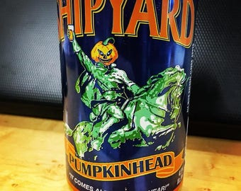 "Pumpkinhead Soy wax Beer""can""dle"