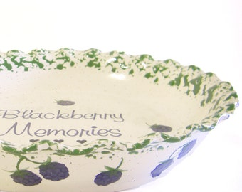 Blackberry Pie Dish - Personalized Pie Plate - Blackberry Pie Plate - Deep Dish Pie Plate - Berry Hand Painted Pie Dish - Gift for Baker  sc 1 st  Etsy & Beige Personalized Pie Plate Speckled Sand Pie Dish
