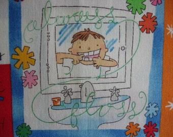 TOOTH FAIRY FABRIC Alexander Henry Rare 2003 Dentist Tooth Fairy 1 exact yard - #K19