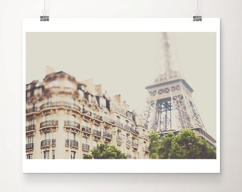 Paris photograph Eiffel Tower photograph Paris decor Paris print Eiffel Tower print Paris apartment photograph travel photography