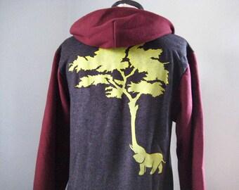 Elephant Tree Zip Hoodie Unisex
