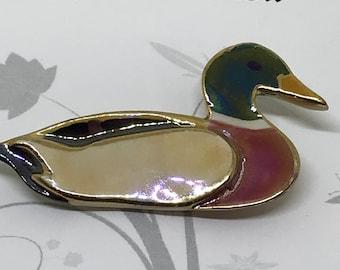 Mallard duck pin