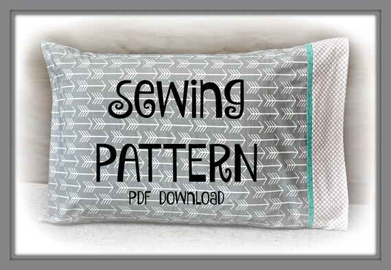 Burrito Style Pillowcase Extraordinary Sewing PDF Tutorial Burrito Pillowcase Two Sizes Included