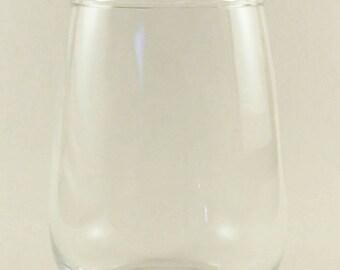 Customizable Stemless Wine Glass -- 17oz