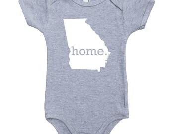 Homeland Tees Georgia Home Unisex Baby Bodysuit