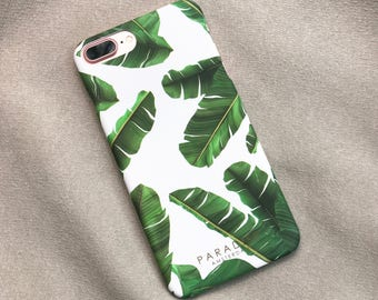 Island Leaves tropical leaves case phone cover iPhone Samsung Galaxy banana leaves palm