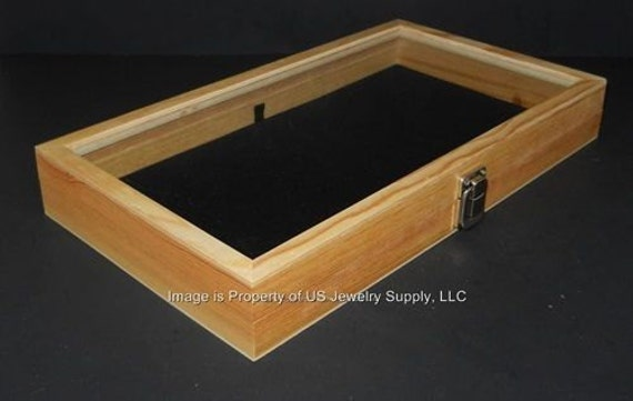 6 Glass Top Lid Black Pad Display Box Cases Militaria Medals