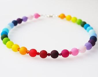 rainbow necklace polaris necklace colorful with Swarovski® Crystals pride