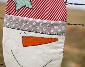 Snowman Hot Mitt Pattern