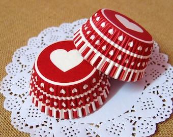 Big Heart Cupcake Liners (50)