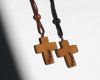 Rear View Mirror Cross, Design-SM-P, wooden cross, christian jewelry