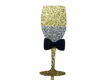 Champagne Cupcake Toppers, New Years Eve Cupcake Toppers, New Year Cupcake Topper, celebration cupcake toppers, Wedding Party Decorations