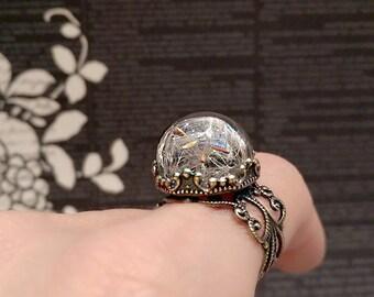 Real Dandelion Ring, Dandelion Wish Ring