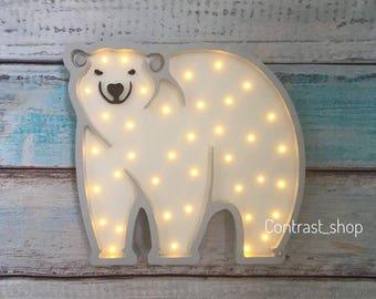 "Nightlight ""White bear"""