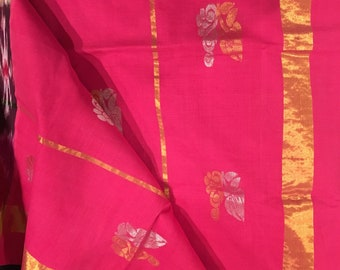 Venkatagiri (uppada) saree with zaree, ikkat border, ethnic wear, traditional Indian saree
