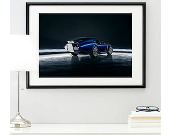 Blue Shelby Daytona Rear Angle, automotive photography, automotive prints, car photography, car prints, american muscle, @richardlephoto