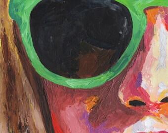 Female Portrait Glasses No 1. Original Acrylic Painting