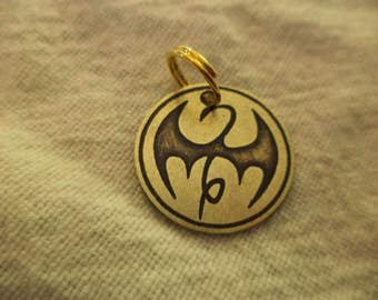 Marvel's Iron Fist Etched Brass Charm