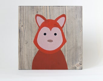 Woodland nursery decor, Fox Nursery Art, Baby Animal Paintings, Baby Animal Nursery, Nursery Wall Art, Woodland Animals, Shower Gift,Fox Art
