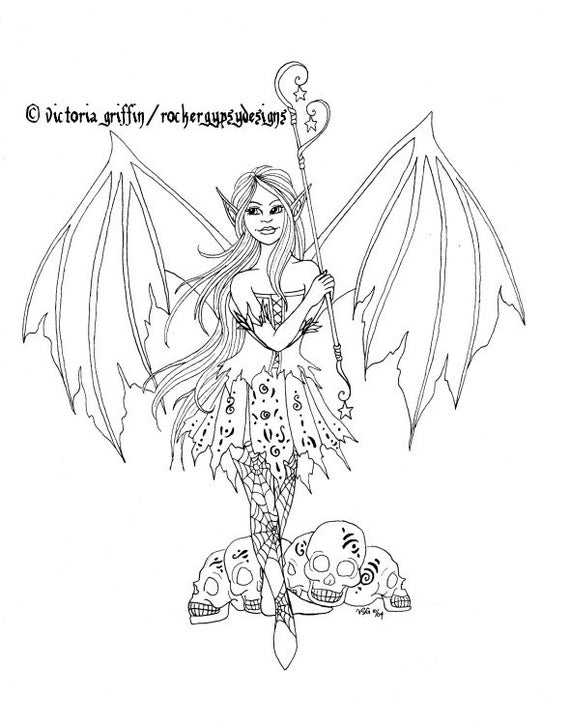 punk faries coloring pages - photo#6