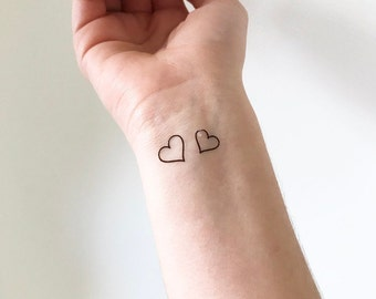 Hearts (set of 4) - Temporary Tattoo