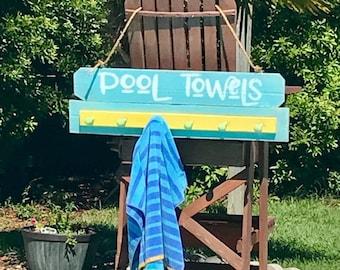 Pool towel rack Etsy