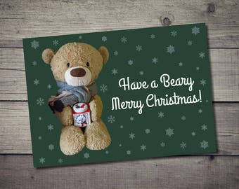 Have a Beary Merry Christmas Postcard