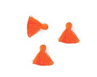 x 3 orange PomPoms
