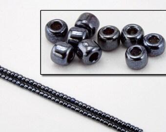 11/0 Metallic Hematite Japanese Seed Bead (40 gm) #JFJ001