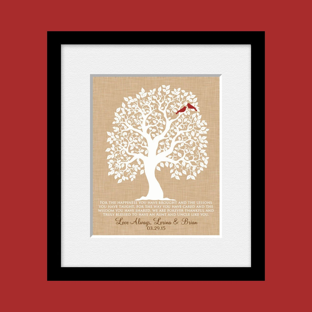 Thank You Gift for an Aunt and Uncle Quote for Aunt and