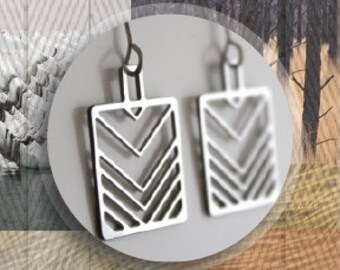 80's flair chevron Earrings