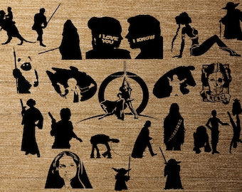 Star Wars 20 pk PNG Silhouettes for Decals Cricut (Digital Download)