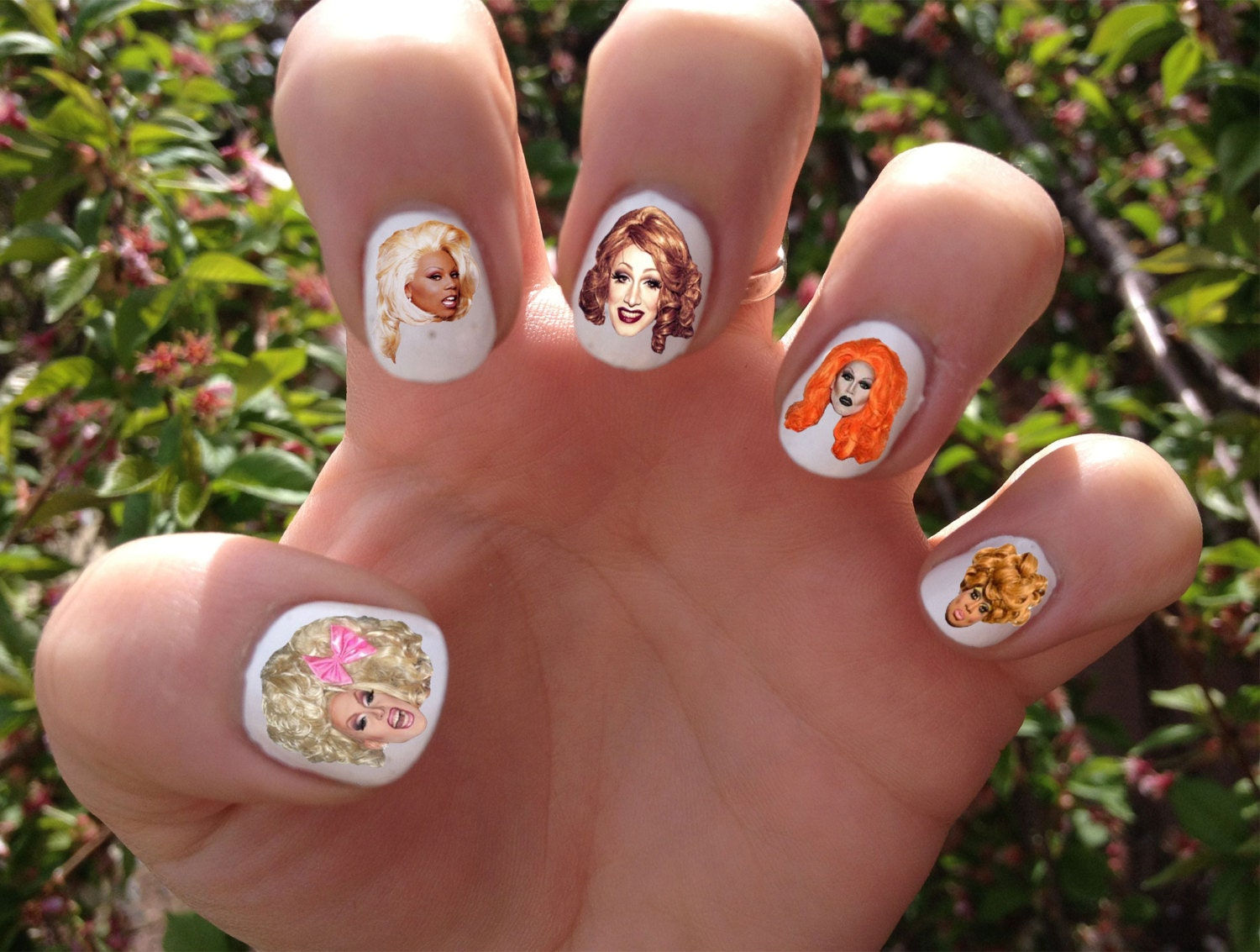 RuPaul\'s Drag Race Nail Decals Transfer Nail Stickers