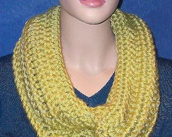 Lime Green Crochet Infinity Scarf, Infinity Scarf, Crocheted Scarf, Green Crochet Infinity Scarf, Handmade Infinity Scarf, Lime Green Scarf,
