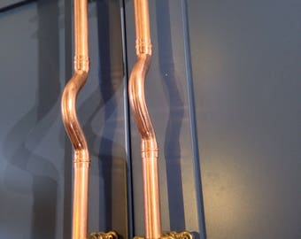 Bespoke Copper Handles & Drawer pulls