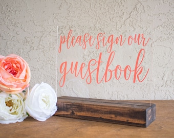 Guest Book Sign - Guestbook Sign - Acrylic Guest book Sign - Acrylic Guestbook Sign - Guest Book Table Sign - Guestbook Table Sign