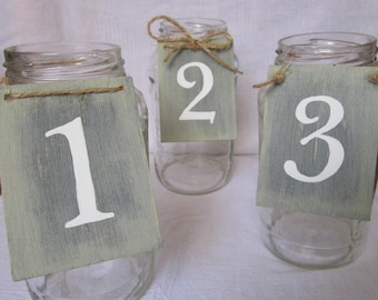 Table Numbers - Wedding Table Numbers -  Table Number Tags