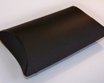 10 mini treat sized black pillow boxes