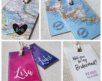 Custom Designed Luggage Tags for Wedding and Events