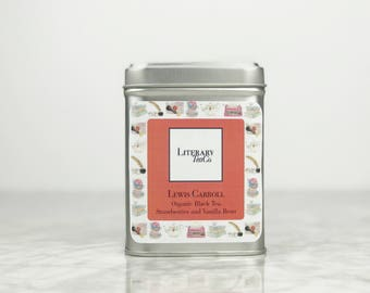 Lewis Carroll Tea - Loose Leaf Tea.. The perfect Literary gift, Mothers Day Gift for Tea Lover, Book Lover or Bibliophile! Black Tea